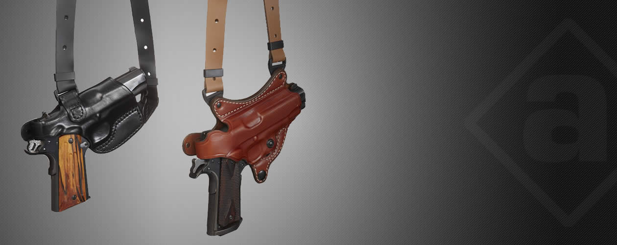 Premium leather shoulder holster
